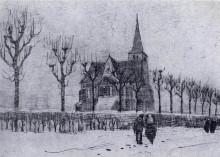 "Картина ""The Church in Nuenen in Winter"" художника ""Ван Гог Винсент"""