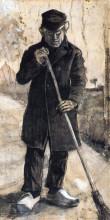 """Картина """"a man with a broom"""" художника """"ван гог винсент"""""""