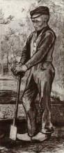 "Репродукция картины ""Farmer Leaning on his Spade"" художника ""Ван Гог Винсент"""