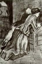 "Картина ""two women, kneeling"" художника ""ван гог винсент"""