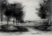 """Репродукция картины """"landscape"""" художника """"ван гог винсент"""""""