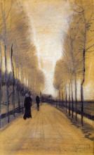"Репродукция картины ""Alley Bordered by Trees"" художника ""Ван Гог Винсент"""
