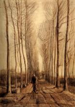 """Репродукция картины """"avenue of poplars"""" художника """"ван гог винсент"""""""