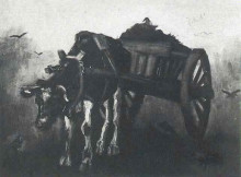 "Картина ""Cart with Black Ox"" художника ""Ван Гог Винсент"""