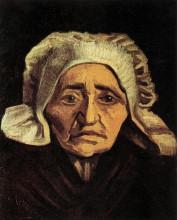 """Копия картины """"Head of an Old Peasant Woman with White Cap"""" художника """"Ван Гог Винсент"""""""