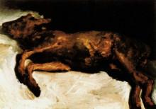 "Копия картины ""new-born calf lying on straw"" художника ""ван гог винсент"""