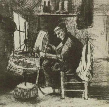 "Картина ""Old Man Reeling Yarn"" художника ""Ван Гог Винсент"""