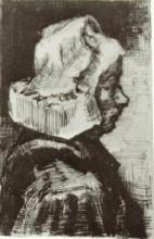 "Репродукция картины ""Peasant Woman, Head"" художника ""Ван Гог Винсент"""