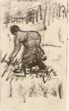 "Копия картины ""Peasant Woman, Stooping to the Left"" художника ""Ван Гог Винсент"""