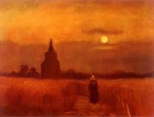 """Картина """"the old tower in the fields"""" художника """"ван гог винсент"""""""