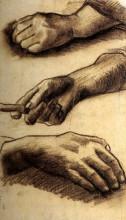 """Репродукция картины """"three hands"""" художника """"ван гог винсент"""""""