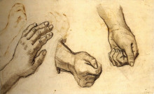 "Картина ""three hands"" художника ""ван гог винсент"""