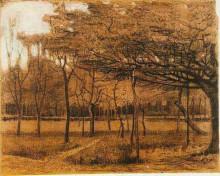 "Копия картины ""landscape with trees"" художника ""ван гог винсент"""