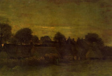 "Картина ""Village at sunset"" художника ""Ван Гог Винсент"""