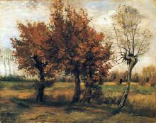 "Копия картины ""Autumn Landscape with Four Trees"" художника ""Ван Гог Винсент"""