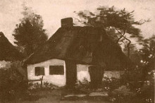 "Картина ""Cottage with Trees"" художника ""Ван Гог Винсент"""