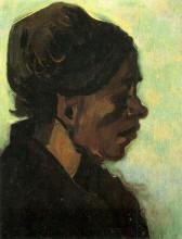 "Репродукция картины ""Head of a Brabant Peasant Woman with Dark Cap"" художника ""Ван Гог Винсент"""