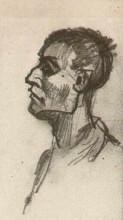"Репродукция картины ""head of a man, bareheaded"" художника ""ван гог винсент"""