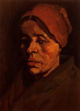 """Картина """"Head of a Peasant Woman with Brownish Cap"""" художника """"Ван Гог Винсент"""""""