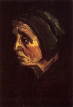 "Картина ""Head of a Peasant Woman with Dark Cap"" художника ""Ван Гог Винсент"""