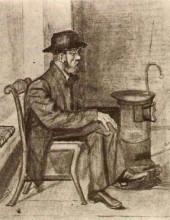 "Копия картины ""old man warming himself"" художника ""ван гог винсент"""