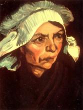 "Репродукция картины ""Head of a Peasant Woman with White Cap"" художника ""Ван Гог Винсент"""