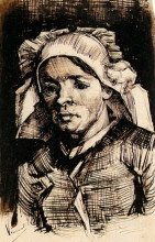 "Репродукция картины ""head of a woman"" художника ""ван гог винсент"""