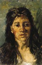 """Копия картины """"Head of a Woman with her Hair Loose"""" художника """"Ван Гог Винсент"""""""