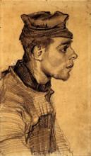 """Репродукция картины """"head of a young man"""" художника """"ван гог винсент"""""""