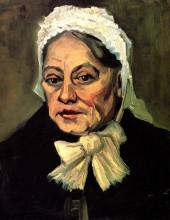 """Картина """"Head of an Old Woman with White Cap The Midwife"""" художника """"Ван Гог Винсент"""""""