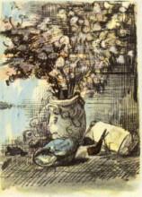 """Картина """"honesty in a vase"""" художника """"ван гог винсент"""""""