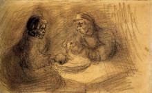 """Копия картины """"man and woman sharing a meal"""" художника """"ван гог винсент"""""""