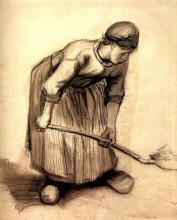 "Картина ""peasant woman digging"" художника ""ван гог винсент"""