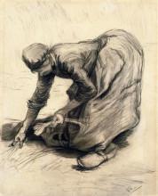 "Репродукция картины ""Peasant Woman Gleaning"" художника ""Ван Гог Винсент"""