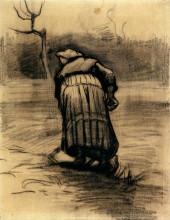 "Картина ""peasant woman lifting potatoes"" художника ""ван гог винсент"""