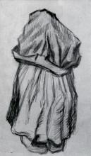 """Копия картины """"Peasant Woman with Shawl over her Head, Seen from the Back"""" художника """"Ван Гог Винсент"""""""