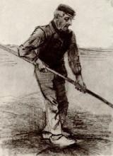 "Копия картины ""peasant with a stick"" художника ""ван гог винсент"""