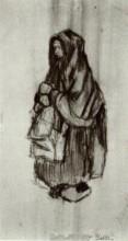 """Копия картины """"Peasant Woman with Shawl over her Head, Seen from the Side 2"""" художника """"Ван Гог Винсент"""""""