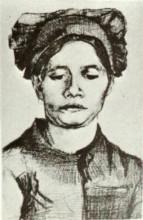 "Картина ""Peasant Woman, Head"" художника ""Ван Гог Винсент"""