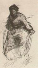 "Копия картины ""peasant woman, walking"" художника ""ван гог винсент"""