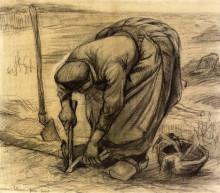 """Копия картины """"planting beets"""" художника """"ван гог винсент"""""""