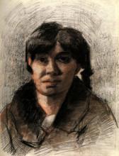 """Репродукция картины """"portrait of a woman"""" художника """"ван гог винсент"""""""