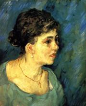 "Картина ""portrait of woman in blue"" художника ""ван гог винсент"""