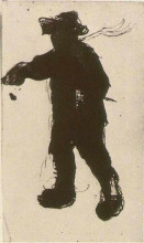 """Картина """"Silhouette of a Man with a Rake"""" художника """"Ван Гог Винсент"""""""
