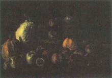 "Репродукция картины ""still life with a basket of apples and two pumpkins"" художника ""ван гог винсент"""