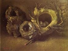 "Репродукция картины ""Still Life with Three Birds Nests"" художника ""Ван Гог Винсент"""