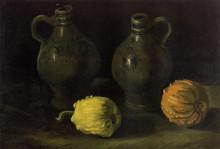 "Репродукция картины ""still life with two jars and two pumpkins"" художника ""ван гог винсент"""