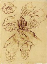 """Репродукция картины """"Study Sheet with Seven Hands"""" художника """"Ван Гог Винсент"""""""