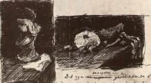 "Репродукция картины ""sculpture and still life with cabbage and clogs"" художника ""ван гог винсент"""