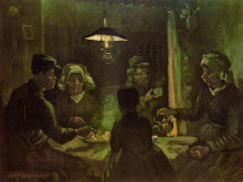 "Картина ""the potato eaters (preliminary oil sketch)"" художника ""ван гог винсент"""